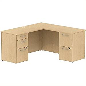 Get Quotations · Bush Business Furniture 300S038AC 300 Series 60W X 22D L  Shaped Office Desk With 2 And