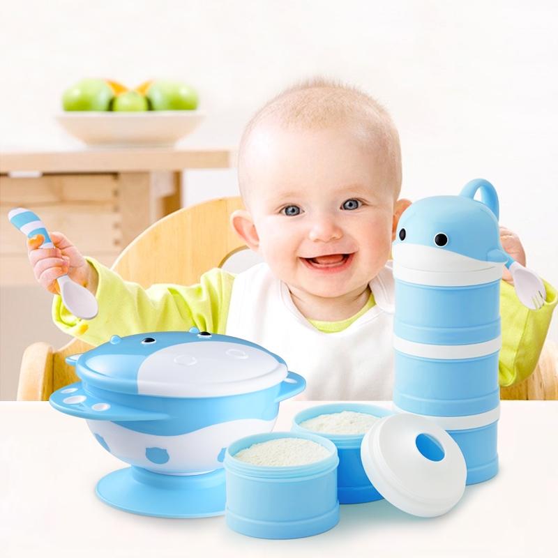 Nieuwe Collectie Leuke Ontwerp Hoge Kwaliteit Pp Babyvoeding Product Kom En Lepel Bestek Set