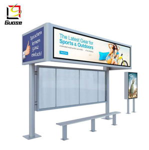 led display customized bus shelter for outdoor furniture