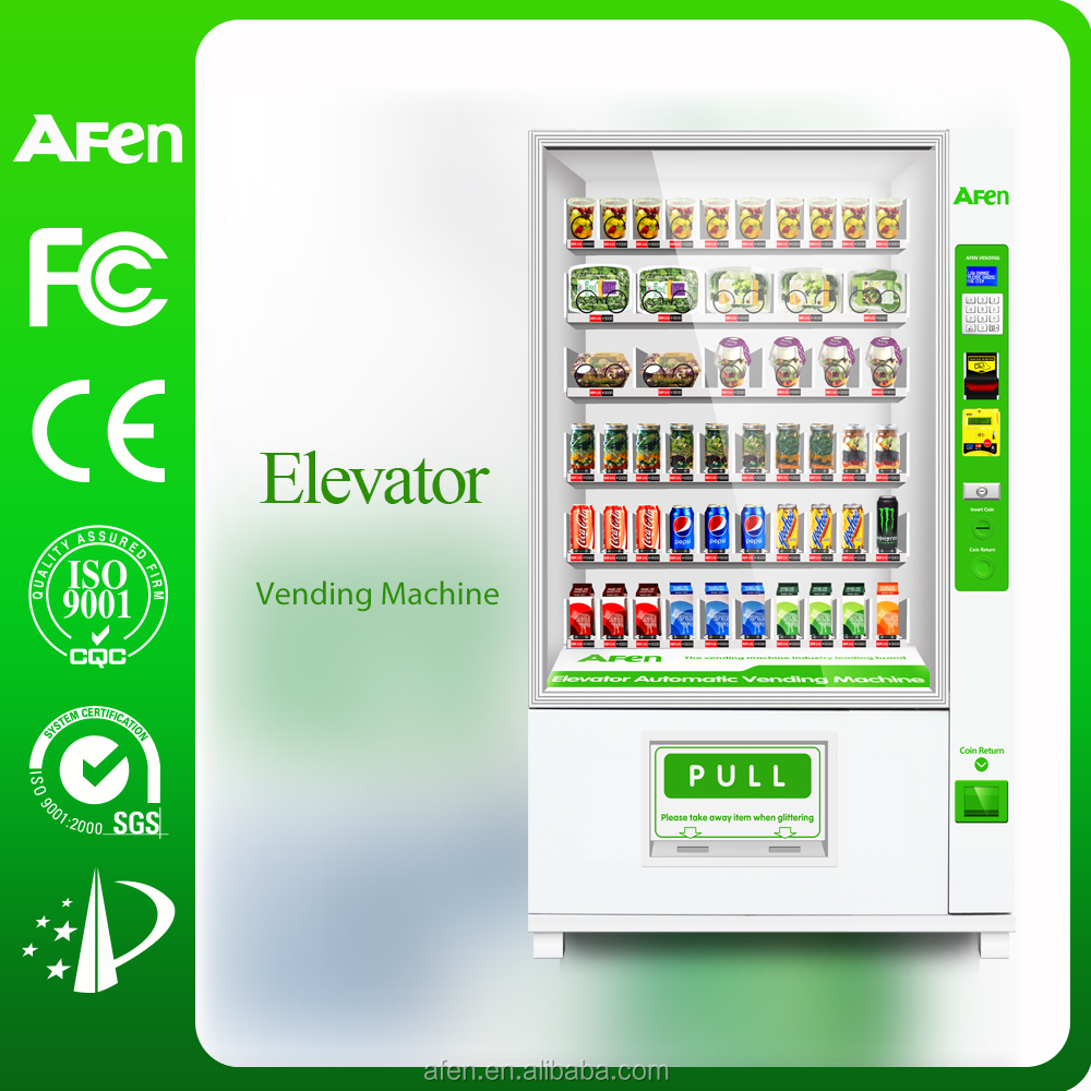 Belt conveyor combo vending machine with lift