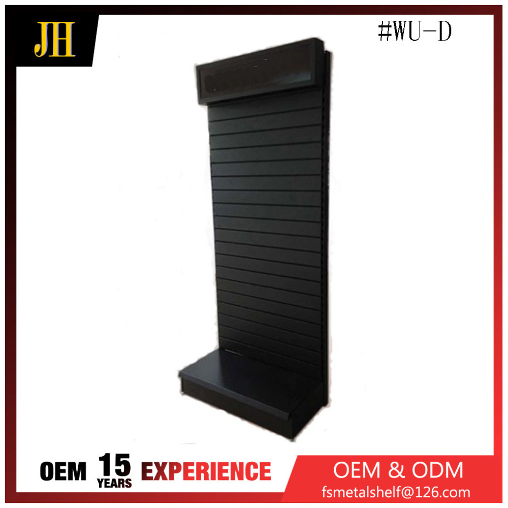 Custom made retail single sided slatwall metal display stand,display stand
