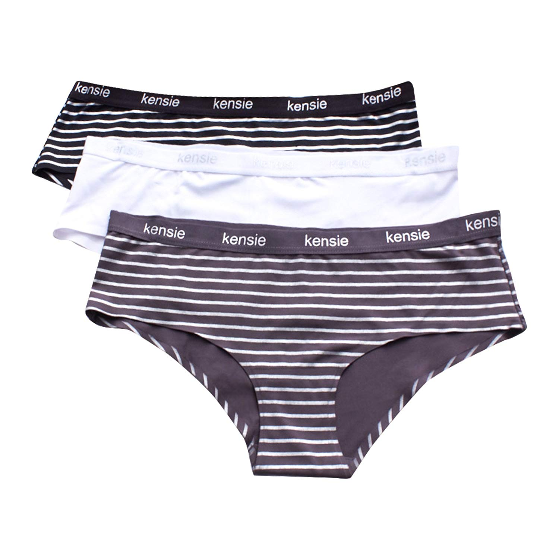 98b2a26d5c79 Get Quotations · kensie Womens Multi Pack Hi Cut Seamless Elastic Waistband Hipster  Brief Panties