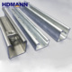 High Strength Galvanized Steel Unistrut Channel