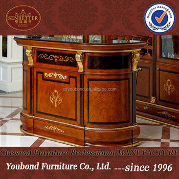 0038 Antique Living Room Bar Furniture Set Classic Luxury Home Bar
