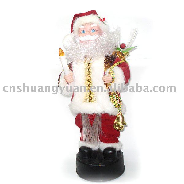 High quality christmas singing santa claus/christmas ornament