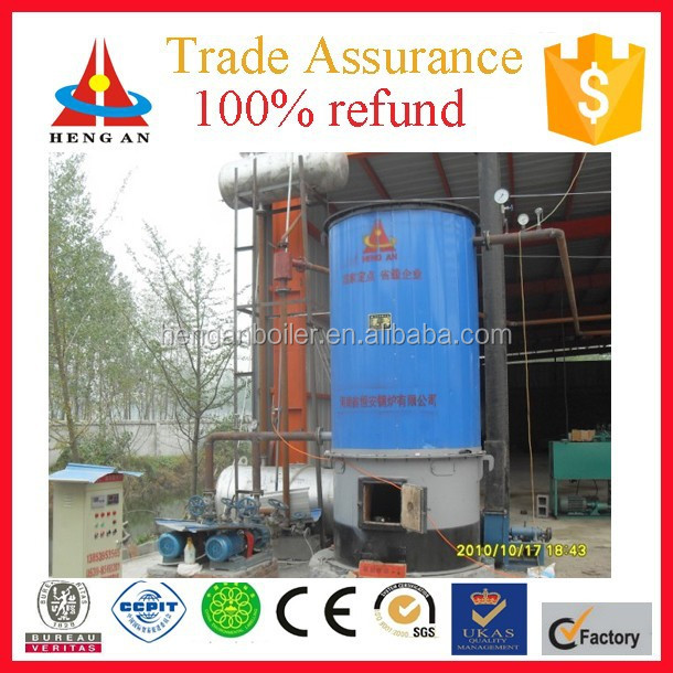 Factory price trade assurance CE BV certificate hot air low pressure vertical <strong>coal</strong> thermal fluid boiler