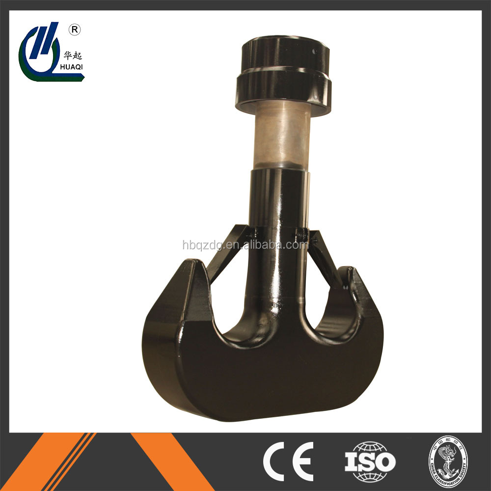 Henan Huabei 400T crane double hook safety hook with nut and shaft full set