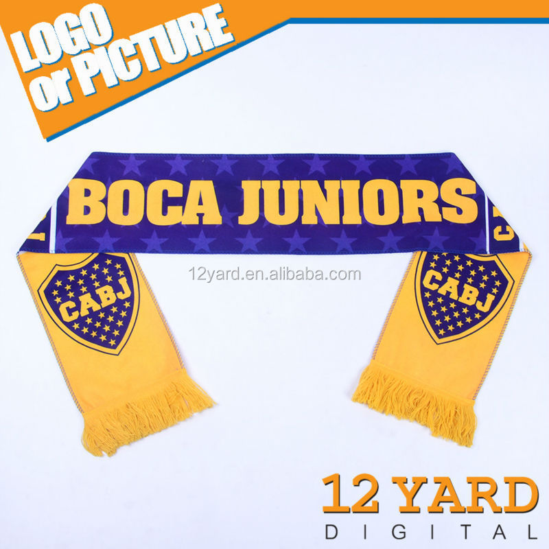 The Argentine football club Boca juniors national soccer polyester promotion scarves