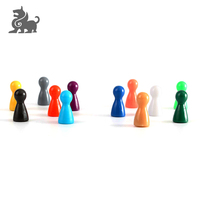 Factory wholesale custom color plastic game pawns