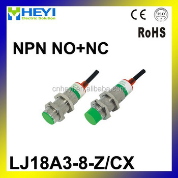 M18 Three Wire Dc Npn No+nc 8mm Distance Measuring Inductive ...