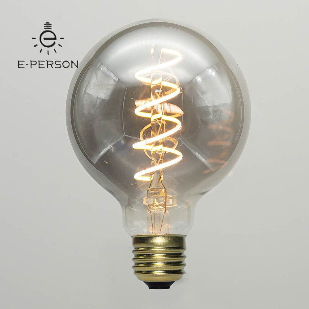 Vintage Led Light Bulbs Soft Filament Lighting Bulb Spiral Globe