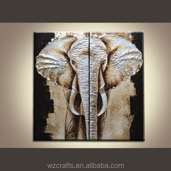 Germany market hot sell elephant Group paintings