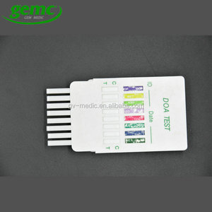One step 10 in 1 drugs rapid test panel with urine adulteration strip