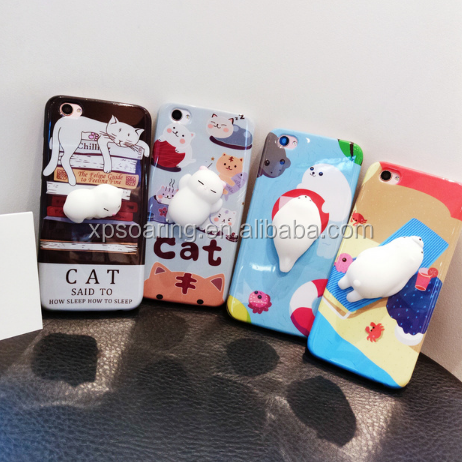3D Cute Soft Squishy paw chicken cat case <strong>cover</strong> for iPhone 7 7 plus ,Soft shell case for iPhone 6 6 Plus