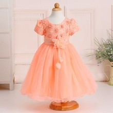 Baby girl ruffle abiti flower girl dresses immagine 3-5 anni di età girl party wear dress occidentale LYD008