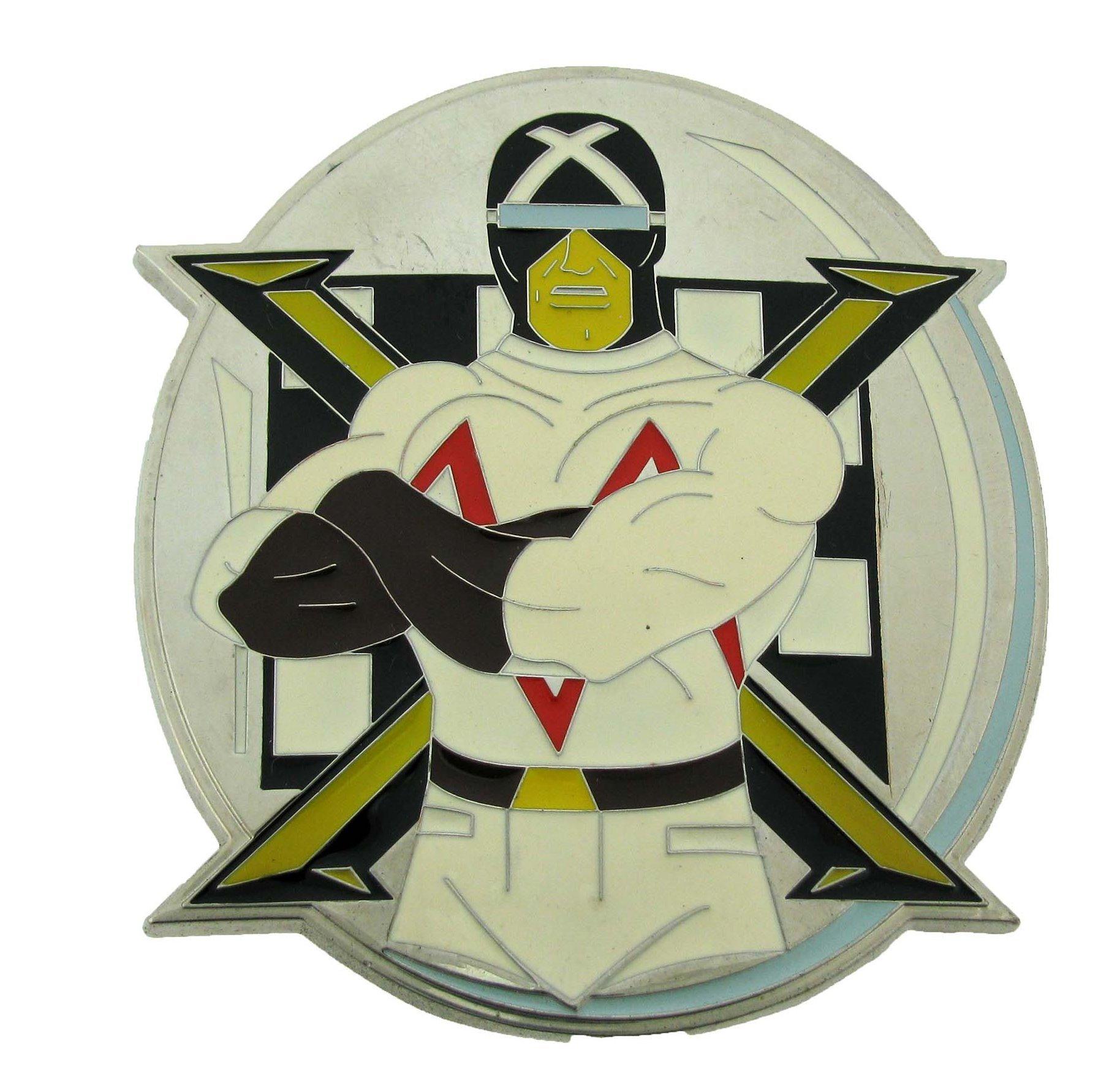 7d6e588aff53 Get Quotations · Mens Speed Racer- Racer X Punk Rock Metal Belt Buckle