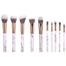 Professional 10pcs Marble Brush Cosmetic Makeup Set Make Up Tools