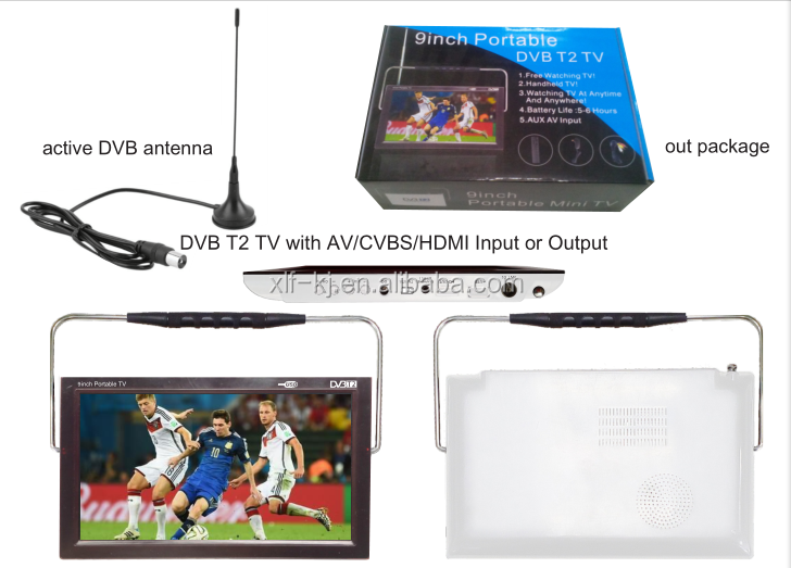 DVB-T2 TV is hand held Digital Television which is equipped with standard definition TFT screen.