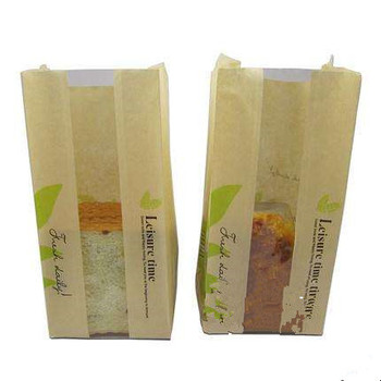 Food Wax Bag Bakery Paper Bags With Window Fast Coated Packaging Product On Alibaba