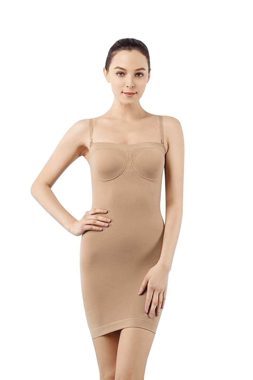 Butterme women's sexy full slip body shaper seamless