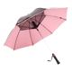 Promotional Straight Printed Golf Air Condition Umbrella With Fan