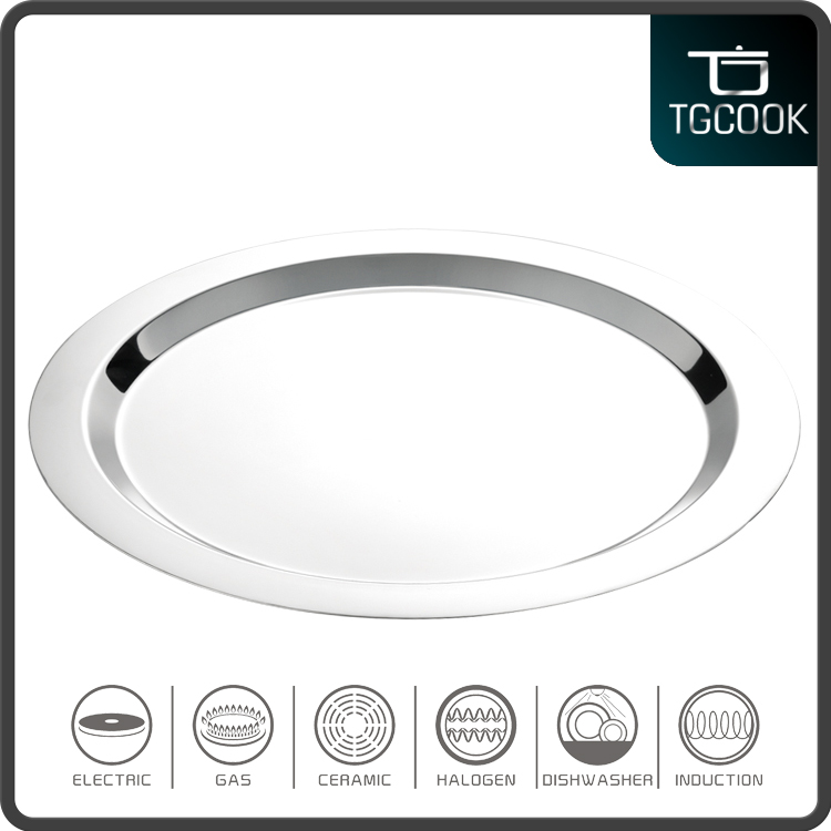 Hot selling 1.3mm thick stainless steel food tray of dinner plate sets