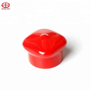 Red soft plastic vinyl anti-roll cap for rod and bar