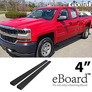 Eboard Running Boards Matte Black 4 For 07 16 Silverado Sierra Ext Cab Double Cab Nerf Bars Step Bars Side Steps