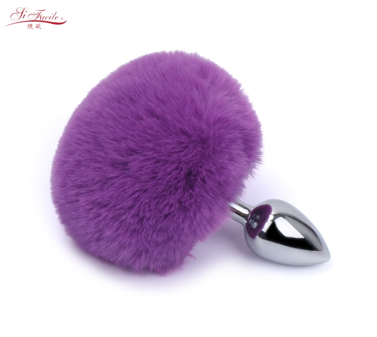 Silicone Rabbit Tail Butt Plugs Anal Plug