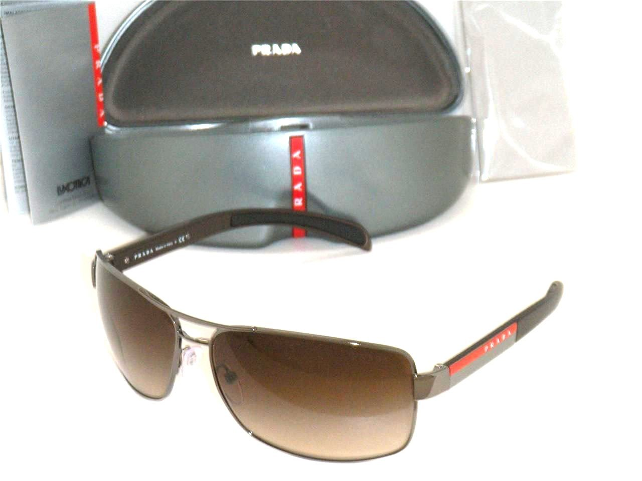 a13ae84440 Get Quotations · New Prada Sunglasses Ps 54IS 5AV6S1 Authentic Gunmetal  with Brown Gradient 65 mm