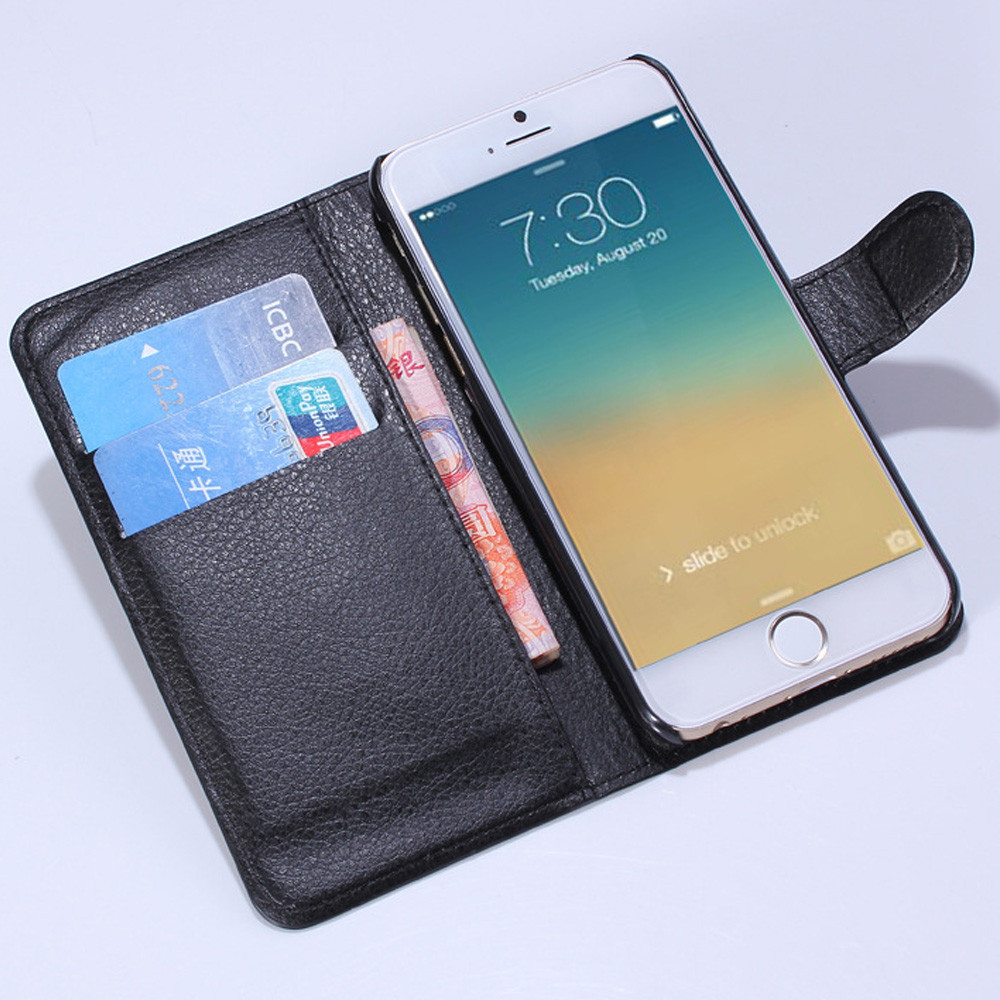 pc + pu leather mobile phone case leather case Flip Holster for iphone 6