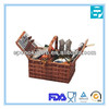 stainless steel outdoor picnic set with basket