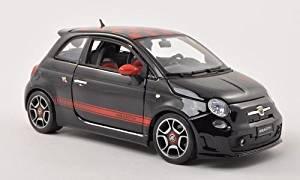 Fiat Abarth 500, met.- black/red , 2008, Model Car, Ready-made, Bburago 1:18