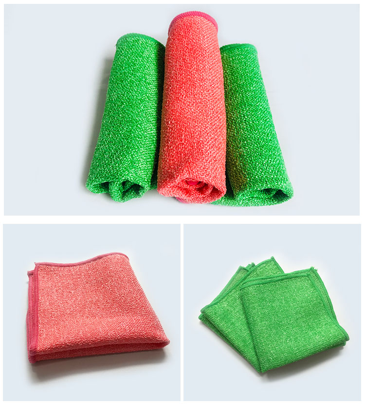 METIS Cheap wholesale PP hard wire scrub cloth multi-purpose home usage cleaning microfiber cloth