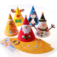 Funny DIY Paper Christmas Party Hats Educational toys for kids