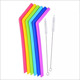 New Design Amazon Hot Sell FDA Food Grade Reusable Silicone Drinking Straw