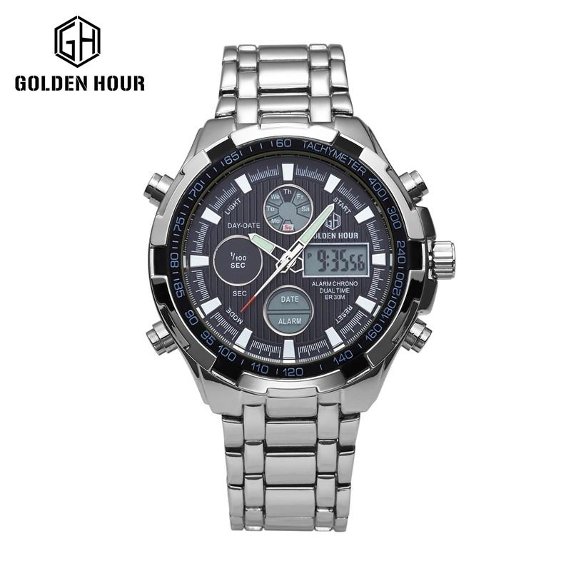 687e09436033 Hora De Oro Digital Led Relojes Deportivos Para Hombres