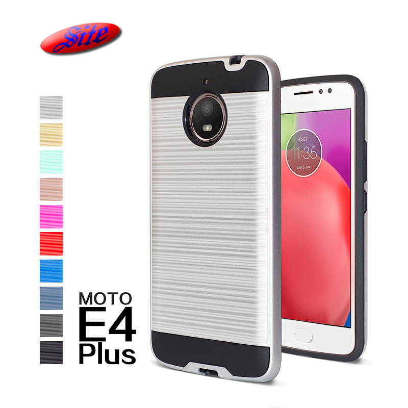 Metal brush 2 in 1 PC TPU cell phone case for MOTO E4 PLUS ,cell phone Cover for MOTO E4 PLUS фото