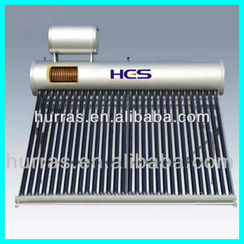 Evacuated Tube Copper Coil Pre-heated Diy Solar Water Heater