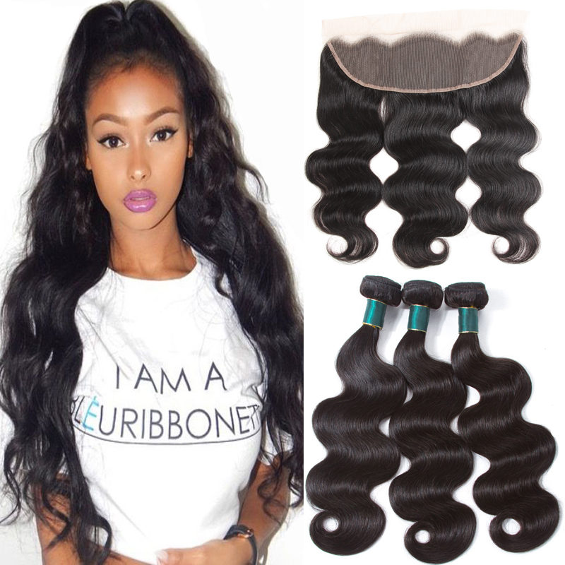 9A Peruvian Body Wave Bundles With Closure Remy Hair Weave Ear to Ear Lace Frontal Closure Unprocessed Virgin Human Hair, N/a