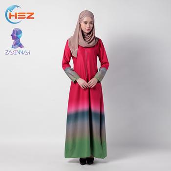 8cd3f6054d9 Zakiyyah 034 Fashion Maxi Dress Moden Long Sleeve Baju Kurung Colors  Graduation Baju Kurung Peplum
