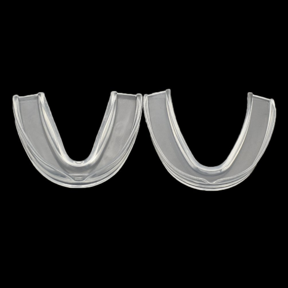 BetterUS 2Pcs Sports Mouth Guards Safe Clear Color Boxing Teeth Mouth Guards