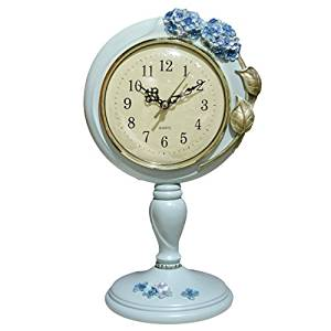 Halloween/Thanksgiving/Christmas/April Fools ' Day Gifts ,Holiday gifts, birthday gifts Day Gifts Retro style clock parlor ornaments hydrangea mute resin clock