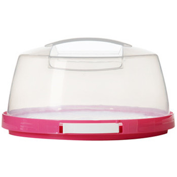 Large square PP cake carrier with handle