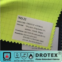 Factory Poly cotton twill EN471 hi vis fabric for safety vest