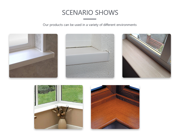 Hot sales oversea market internal plastic pvc windowsill board