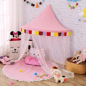 Cotton Kids Hanging Bed Canopy Indoor Half Moon Canvas Wall Tent & Cotton Kids Hanging Bed Canopy Indoor Half Moon Canvas Wall Tent ...