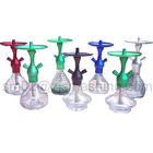 Colourful Aluminum Metal Hookah Shisha Narguile With 2 Holes Acrylic Smoke-Stem Pipe Hookah Pipe Smoking Hose Water ZJSYH001