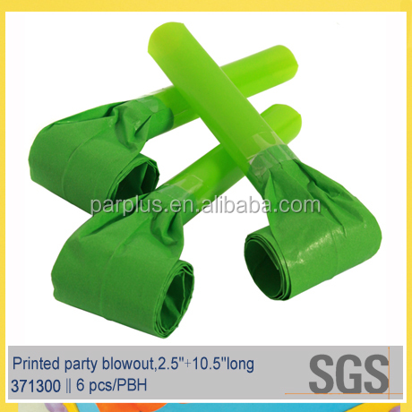 Guangdong Made St Patrick Day Green Party Blow Outs noisemaker