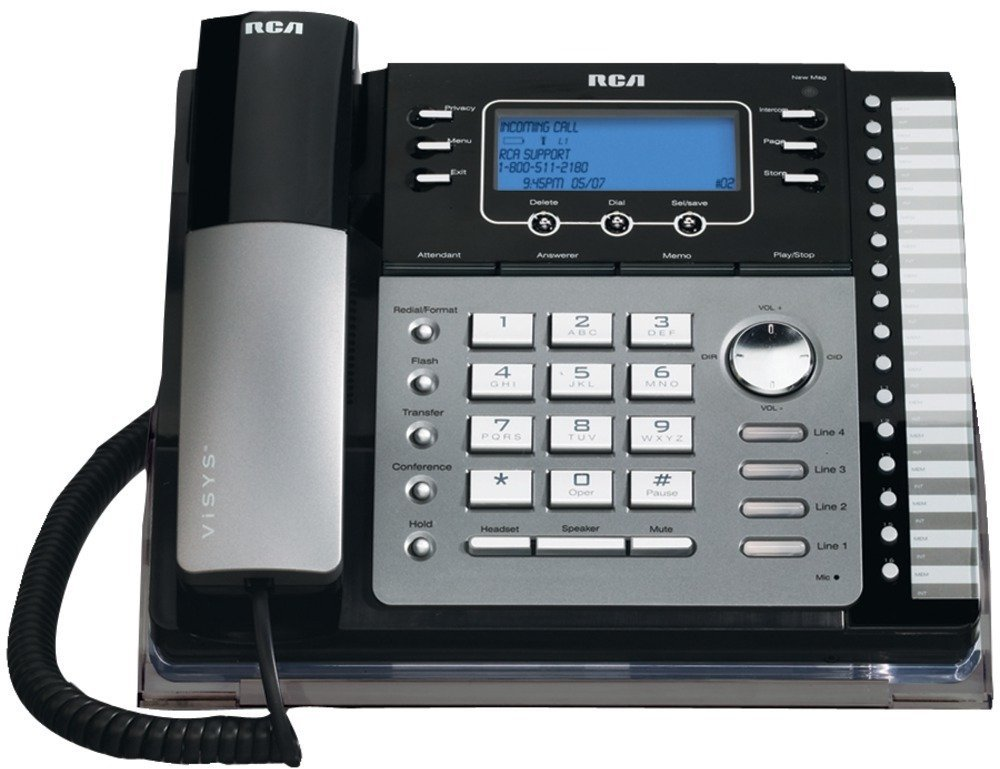 Rca - 4-Line Corded Phone (With Caller Id, Answering System & Auto Attendant) , Rca - 4-Line Corded Phone (With Caller Id, Answering System & Auto Attendant) 4-Line Corded Phone Expandable To 16 Call